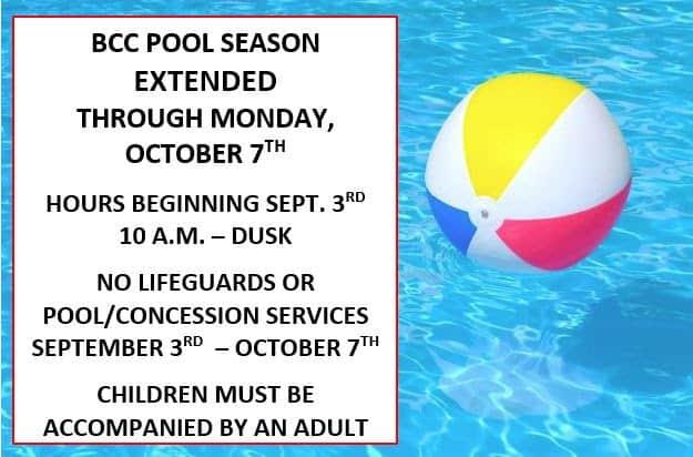 Pool Season Extended