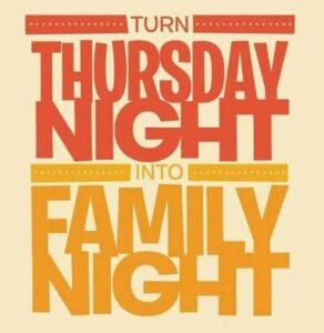 Turn Thursday Night Into Family Night